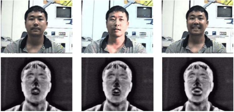 مقایسهی تصویر نور مرئی با تصویر حرارتی